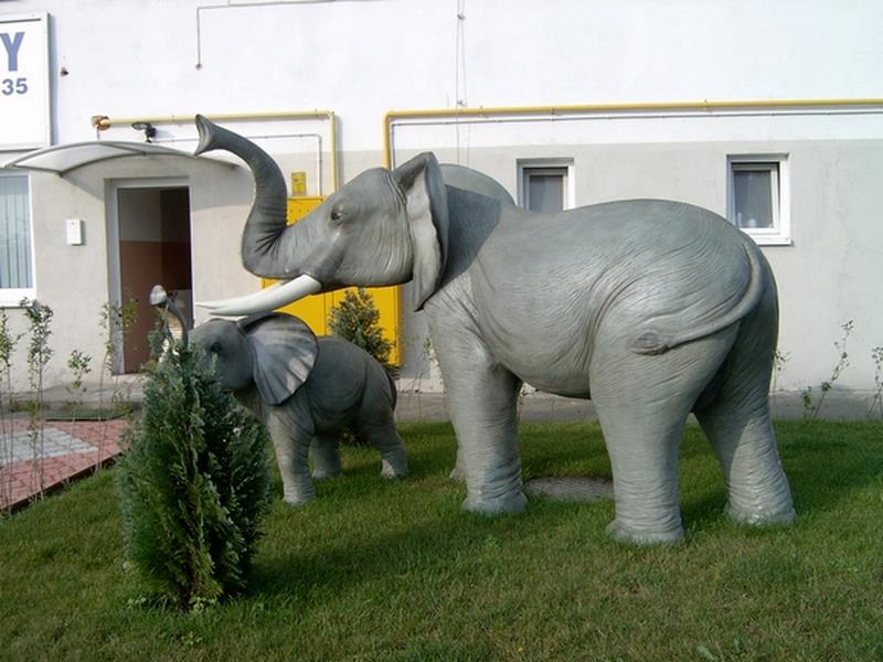 Eléphant animaux en résine classique  101