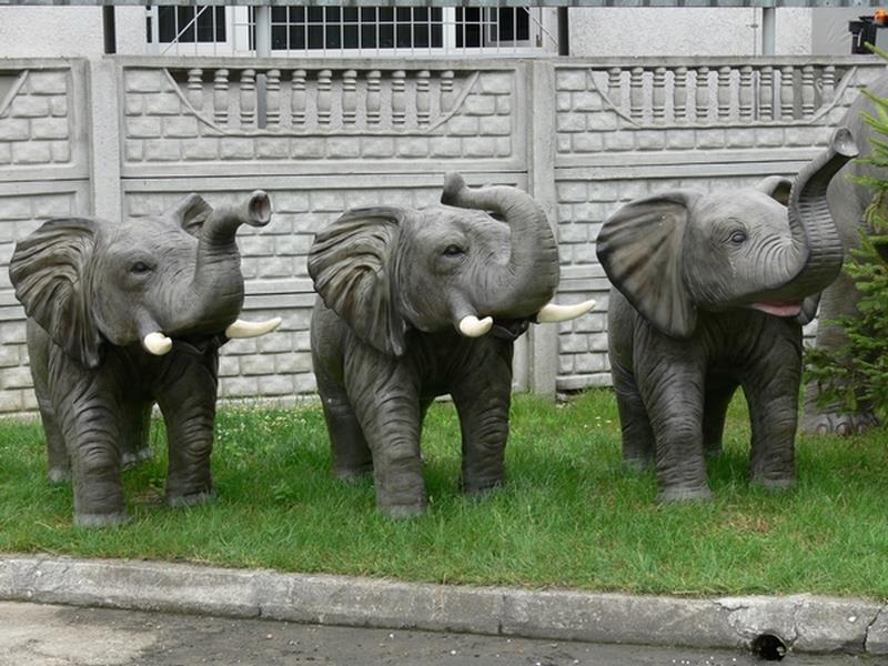 Eléphant animaux en résine classique  088