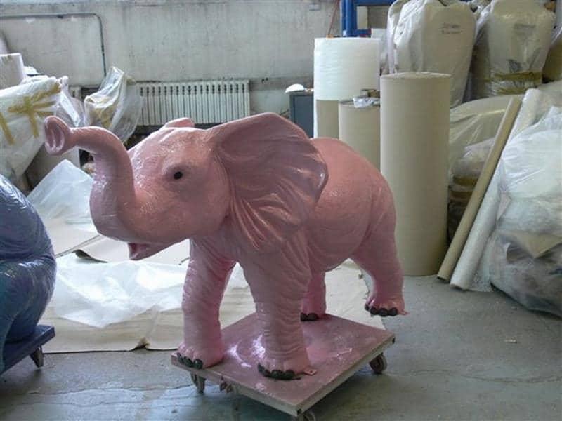 Eléphant animaux en résine classique  092