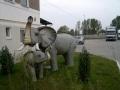 Eléphant animaux en résine classique  102