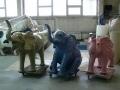 Eléphant animaux en résine classique 090