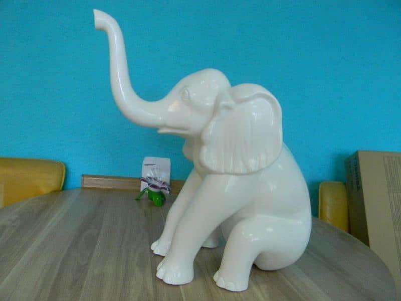 elephant en résine design 008