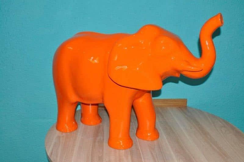 elephant en résine design 011