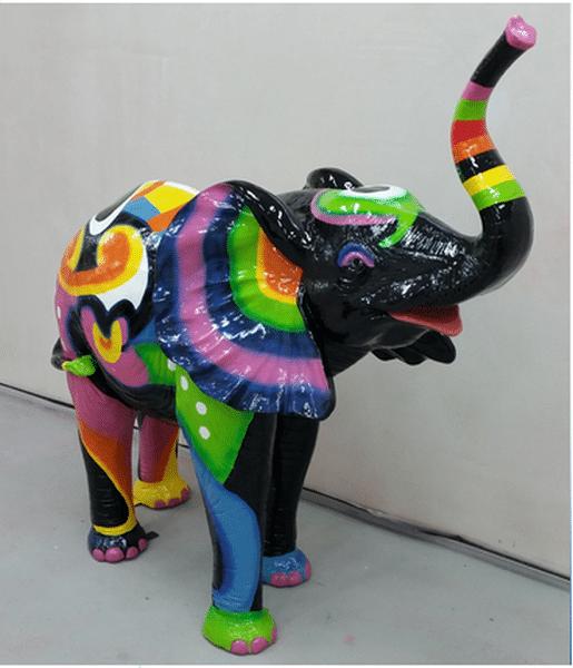 elephant en résine design 014