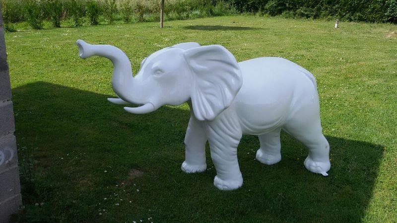 elephant en résine design 017