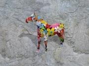 cheval fleur   en resine flower power