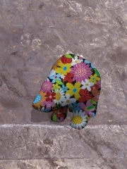 ours 2 fleur   en resine flower power