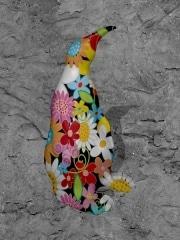 pingouin   en resine flower power