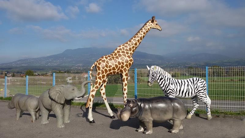 Girafe animaux en résine classique  124