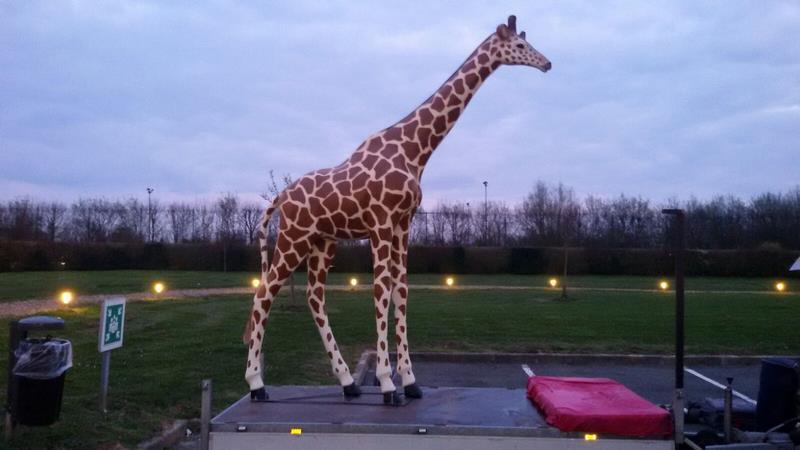 Girafe animaux en résine classique  131
