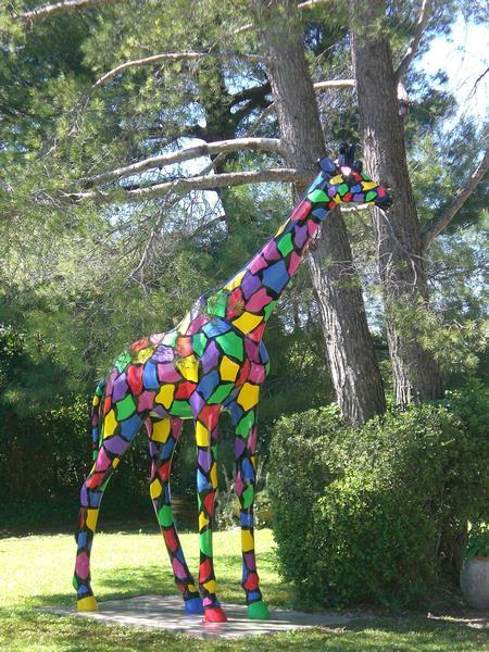 girafe en résine design mosaic 014