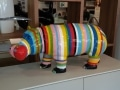 hippopotame en résine design 004