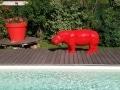 hippopotame en résine design 005