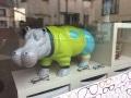 hippopotame en résine design 009