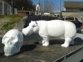 hippopotame en résine design 013