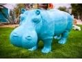 hippopotame en résine design 015