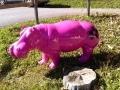 hippopotame en résine design 021