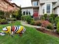 hippopotame en résine design  033 flag