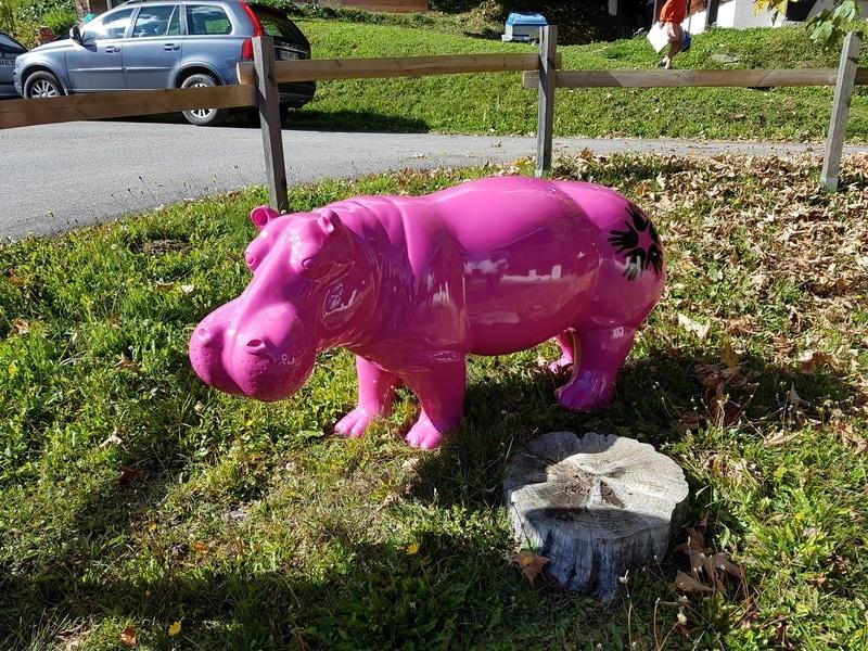 hippopotame en résine design 007