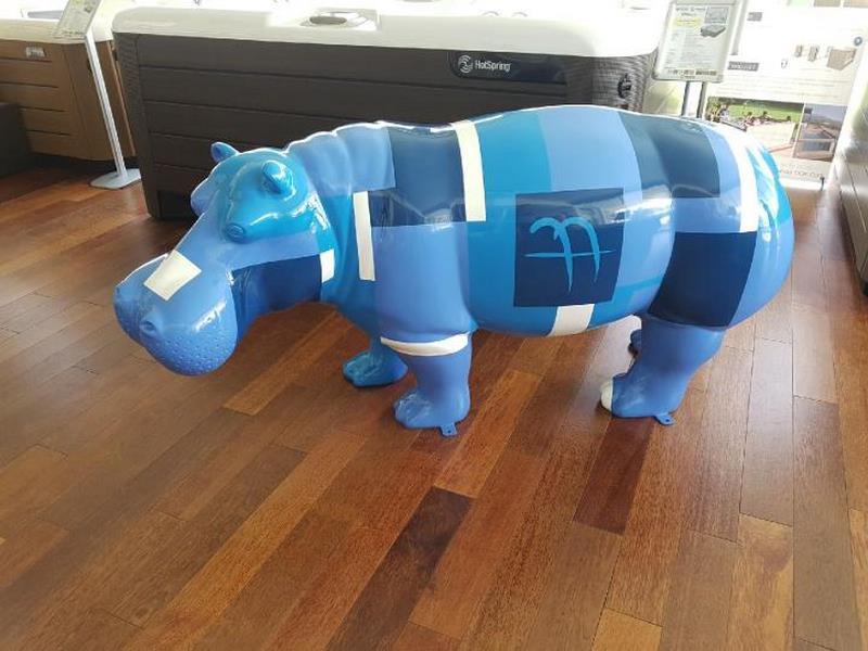 hippopotame en résine design 016