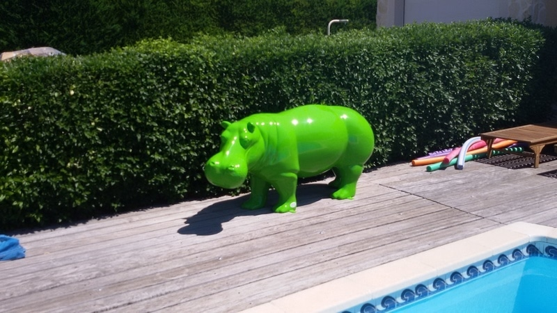 hippopotame en résine design 024