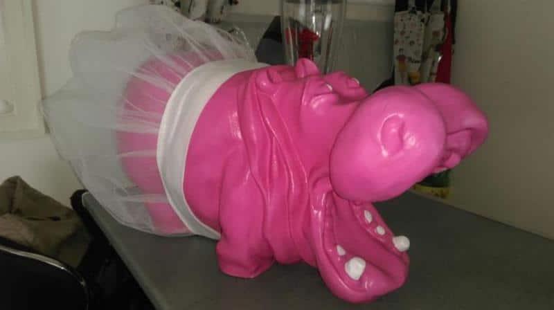 hippopotame en résine design 025