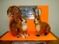 ecureuil & lapin en résine classique 008