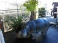 hippopotame en résine classique 012