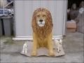 lion en resine classique 001