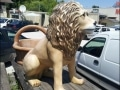 lion en resine classique 007