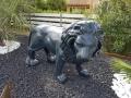 lion en résine design 001