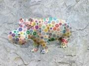 Hippo   en resine marguerite