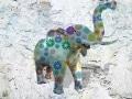 éléphant en résine marguerite