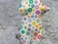 ours debout fleur   en resine marguerite