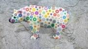 ours fleur   en resine marguerite