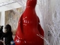 pingouin en résine design 033
