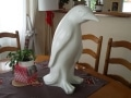 pingouin en résine design 047