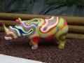 rhinocéros en résine design 002