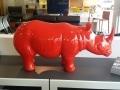 rhinocéros en résine design 004