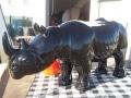 rhinocéros en résine design 008