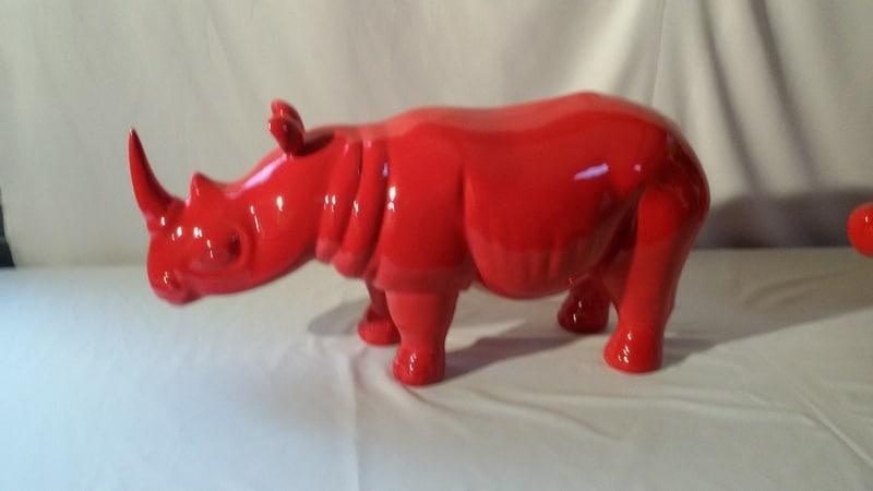 rhinocéros en résine design 006