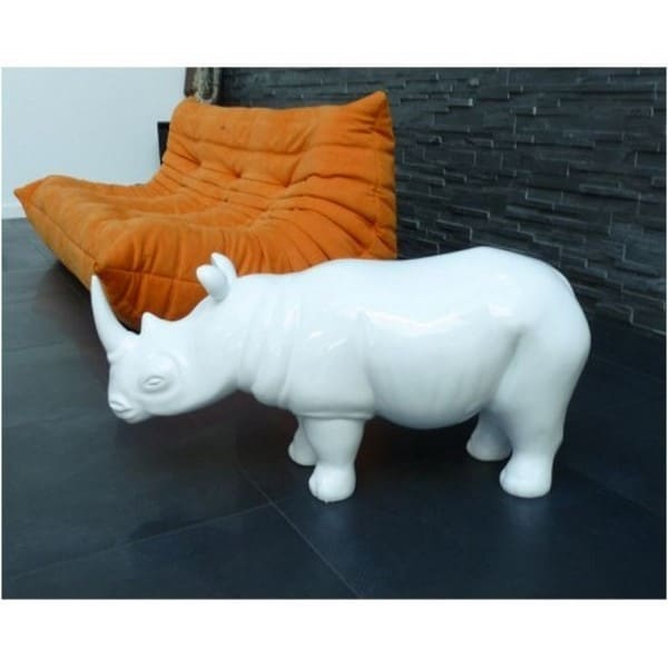 rhinocéros en résine design 011