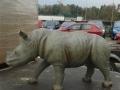 rhinocéros animaux en résine classique  147