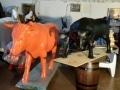 taureau boeuf en résine design 010