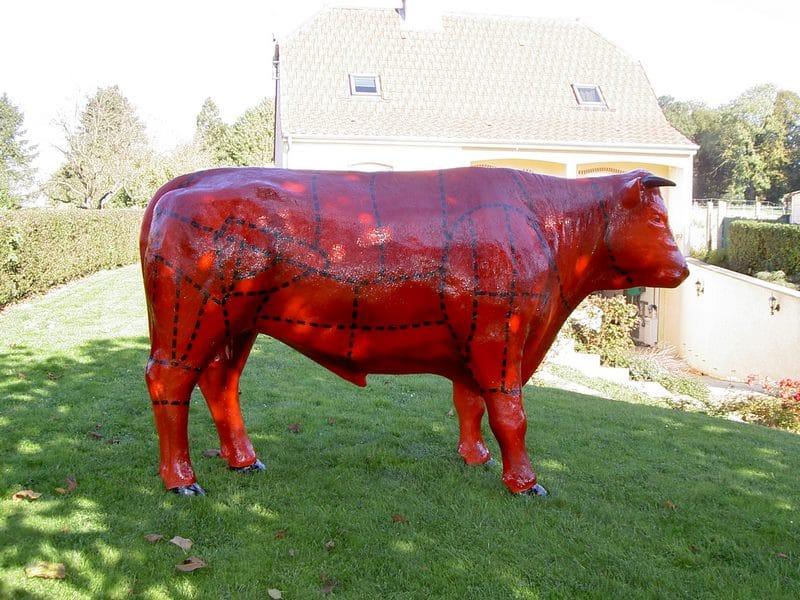 taureau boeuf en résine design 024