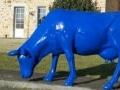 vache bleu FR28 en résine design 162