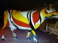 vache  drapeau en résine FR26 design 017