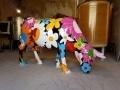 vache en résine  FR28 flower tête basse  design 013