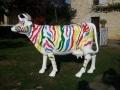 vache en résine L6  zebre esign 070