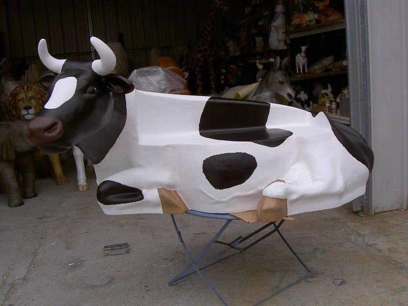 vache banc FR55 en résine design 121